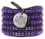 Vesta Amethyst Purple Wrap Bracelet Twilight Monogram