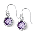 Vesta Amethyst Purple Earrings