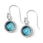Vesta Aquamarine Blue Earrings