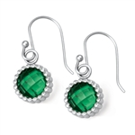 Vesta Emerald Green Earrings