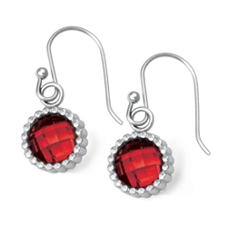 Vesta Garnet Red Earrings