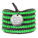 Vesta Emerald Green Wrap Bracelet