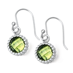 Vesta Peridot Green Earrings