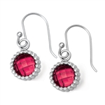 Vesta Ruby Pink Earrings