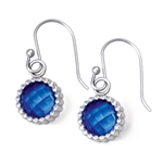 Vesta Spinel Blue Earrings