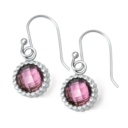 Vesta Tourmaline Pink Earrings