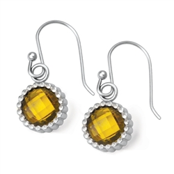 Vesta Topaz Yellow Earrings