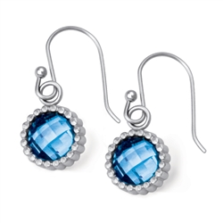Vesta Zircon Blue Earrings