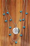 Vesta Iris Thorne Monogram Necklace