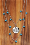 Vesta Iris Twilight Monogram Necklace