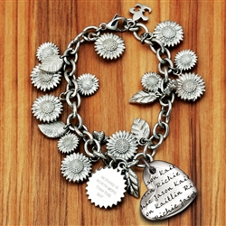 Vesta Mother's Heart Fields of Sunflowers Bracelet
