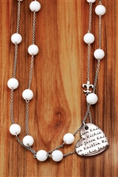 Vesta Mother's Heart Marmo Necklace