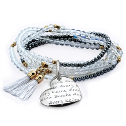 Vesta Mother's Heart Nuvola Tassel Bracelet