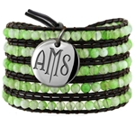 Vesta Peridot Green Wrap Bracelet Twilight Monogram