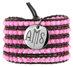 Vesta Ruby Pink Wrap Bracelet Twilight Monogram