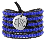 Vesta Spinel Blue Wrap Bracelet Thorne Monogram