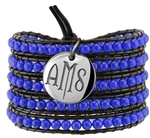 Vesta Spinel Blue Wrap Bracelet Twilight Monogram