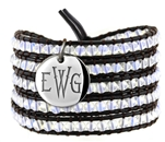 Vesta Spinel White Wrap Bracelet Thorne Monogram