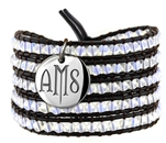 Vesta Spinel White Wrap Bracelet Twilight Monogram