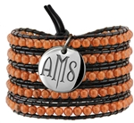Vesta Topaz Gold Wrap Bracelet Twilight Monogram
