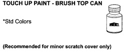Brush Top Bottle of Touch-Up Paint For Metal Panel