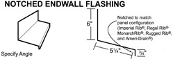 Endwall Flashing For Metal Roofs and Metal Roof Systems