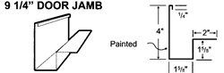 9 1/4 Door Jamb Trim For Metal Buildings and Steel Buildings