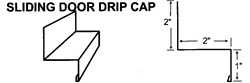 Sliding Door Drip Cap For Metal Building and Steel Buildings