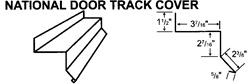 National Door Track Cover For Steel Buildings and Metal Buildings