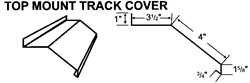 Top Mount Track Cover For Metal Buildings and Steel Buildings
