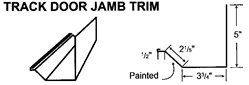 Track Door Jamb Trim For Metal Building and Steel Buildings