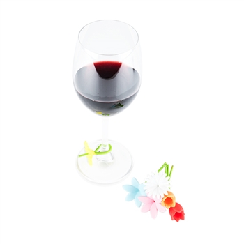 Bouquet: Flower Wine Charms