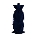 Navy Velvet 750ml Bottle Sack