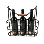 Rustic Farmhouse: Vintage 3 Bottle Carrier