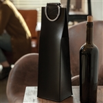 "Admiralâ""¢ Faux Leather Black Wine Tote"