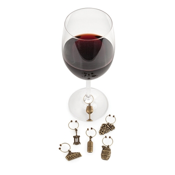 Grapevine Vineyard Wine Charms