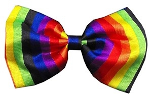 Dog Bow Tie Rainbow