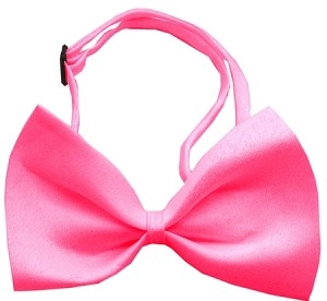 Plain Hot Pink Bow Tie