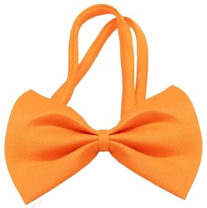 Plain Orange Bow Tie