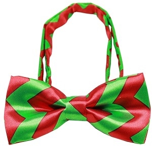 Chevron Christmas Bow Tie