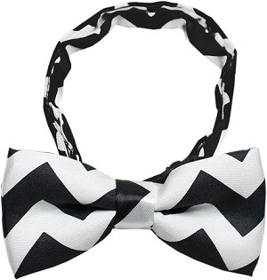 Dog Bow Tie Black Chevron