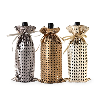 Assorted Metallic Die Cut 750ml Bottle Sack
