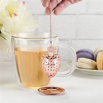 Rose Gold Strawberry Infuser