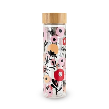 Blair Posy Patterned Glass Travel Infuser Mug