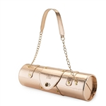 "Poshâ""¢: Rose Gold Hardshell Purse Bag"