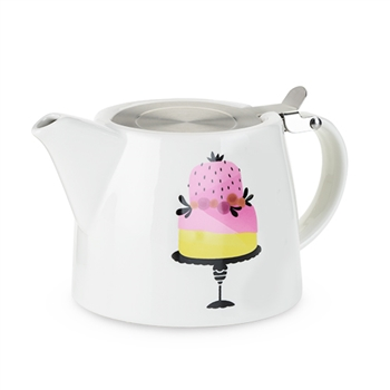 "Harperâ""¢ Piece of Cake Ceramic Teapot & Infuser"