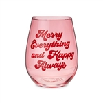 MERRY EVERYTHING STEMLESS WINE GLASS