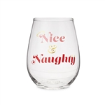 NICE AND NAUGHTY STEMLESS WINE GLASS