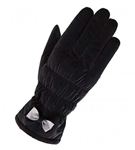 Bowknot Black Women Winter Thick Gloves Pretty Driving Gloves Skiing Gloves (Touch Screen)