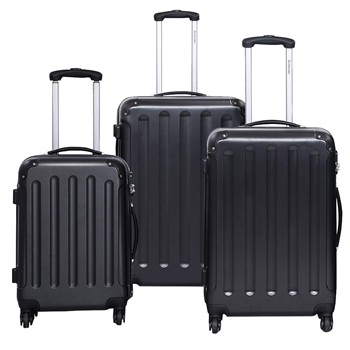 3 pcs Luggage Trolley Case Set - 9 colors